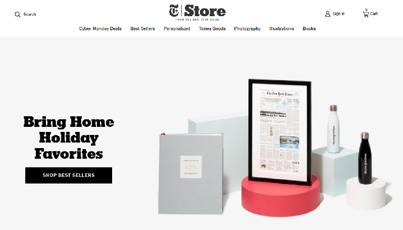 store.nytimes.com con Shopify